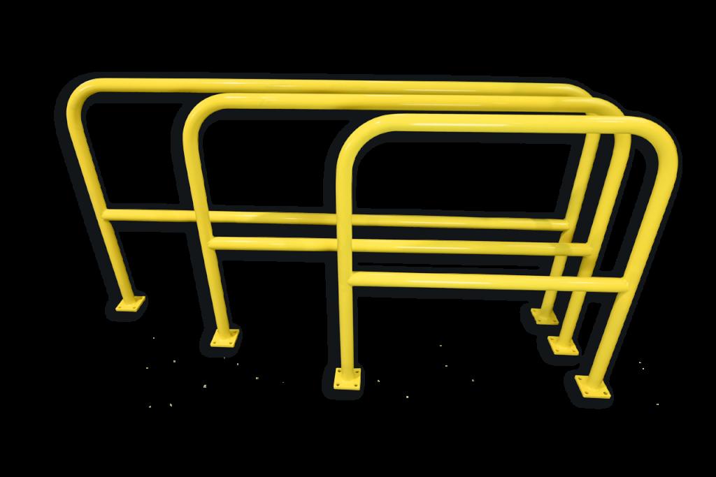 Flexibler Rammschutz | Statisches Fußgängergeländer Cheapy | Fußgängerschutz | Lagersicherheit | Hofmann Betriebsmontagen |Rammschutz online